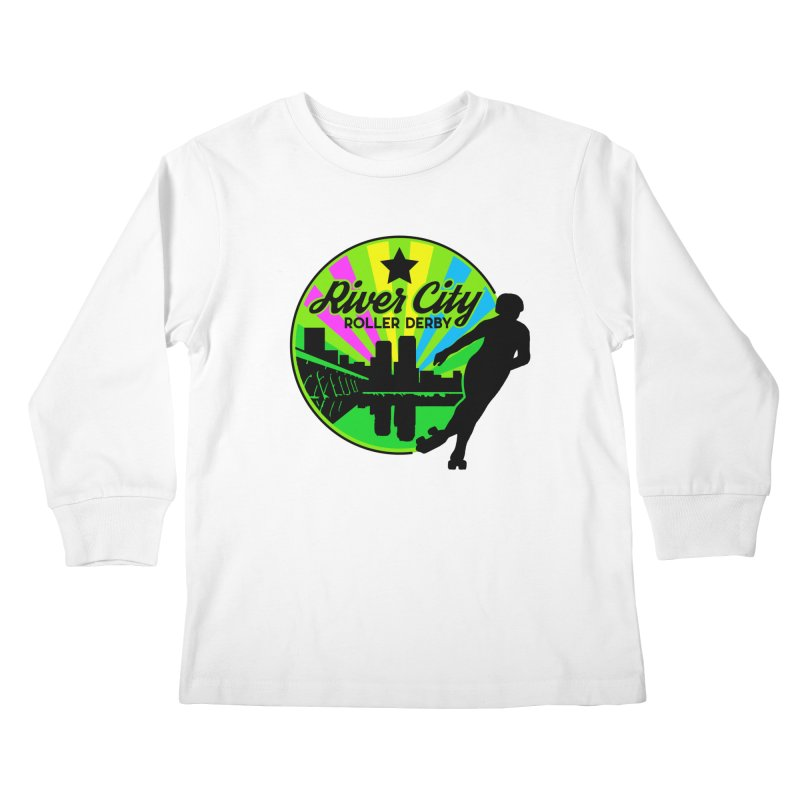 2019 Pan Pride! Kids Longsleeve T-Shirt by River City Roller Derby's Artist Shop