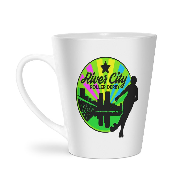 2019 Pan Pride! Accessories Latte Mug by River City Roller Derby's Artist Shop