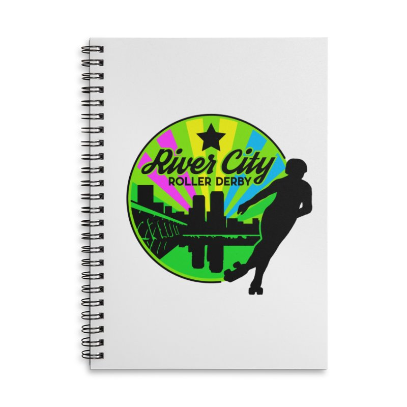 2019 Pan Pride! Accessories Lined Spiral Notebook by River City Roller Derby's Artist Shop