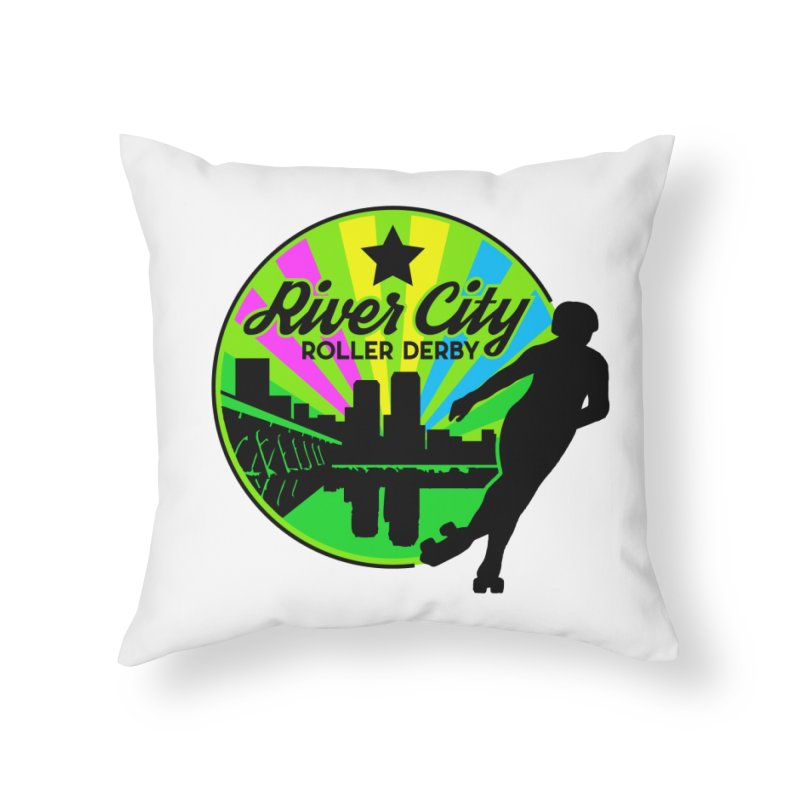 2019 Pan Pride! Home Throw Pillow by River City Roller Derby's Artist Shop