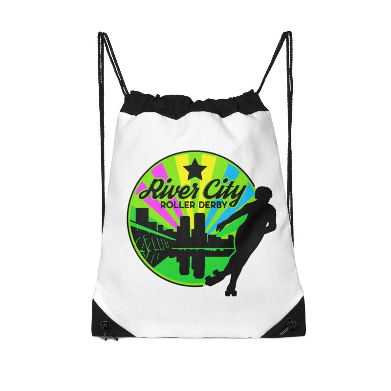 2019 Pan Pride! Accessories Drawstring Bag Bag by River City Roller Derby's Artist Shop