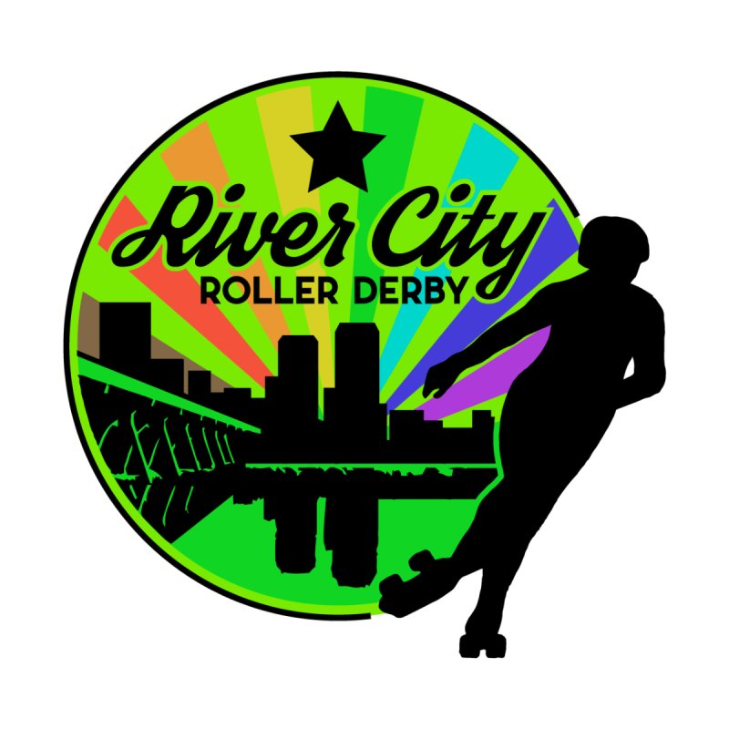 2019 Pride! Kids T-Shirt by River City Roller Derby's Artist Shop