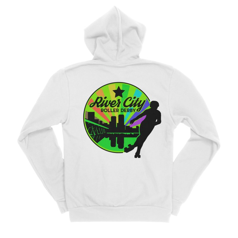 2019 Pride! Women's Sponge Fleece Zip-Up Hoody by River City Roller Derby's Artist Shop