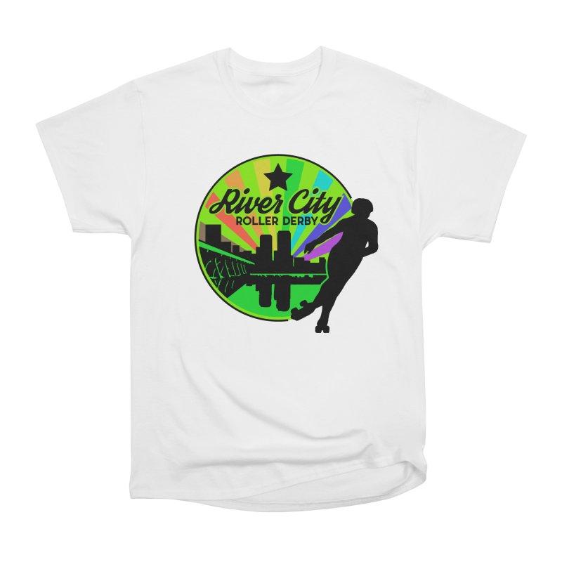 2019 Pride! Men's Heavyweight T-Shirt by River City Roller Derby's Artist Shop