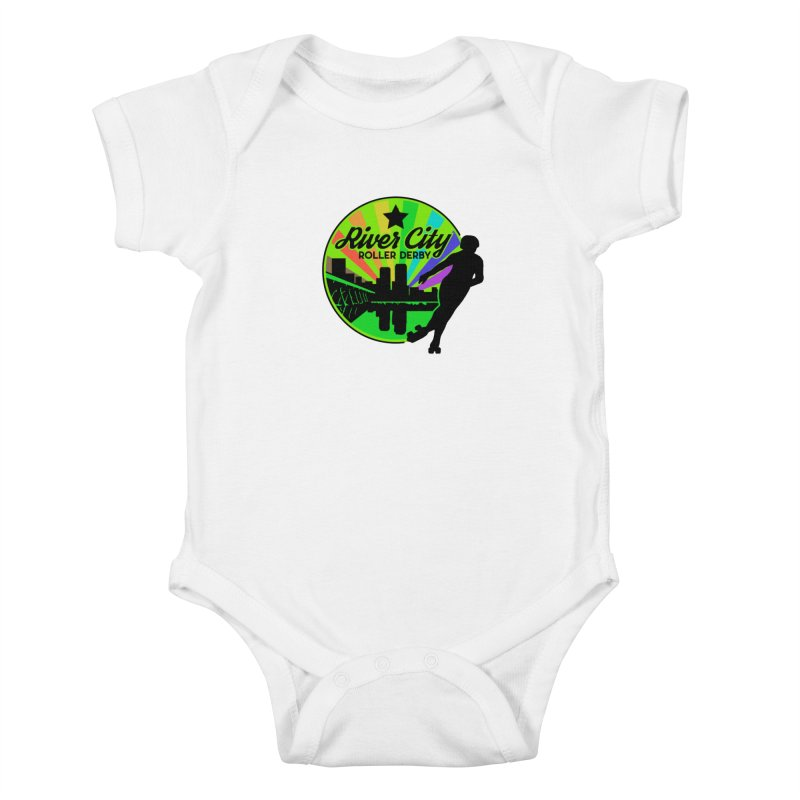 2019 Pride! Kids Baby Bodysuit by River City Roller Derby's Artist Shop