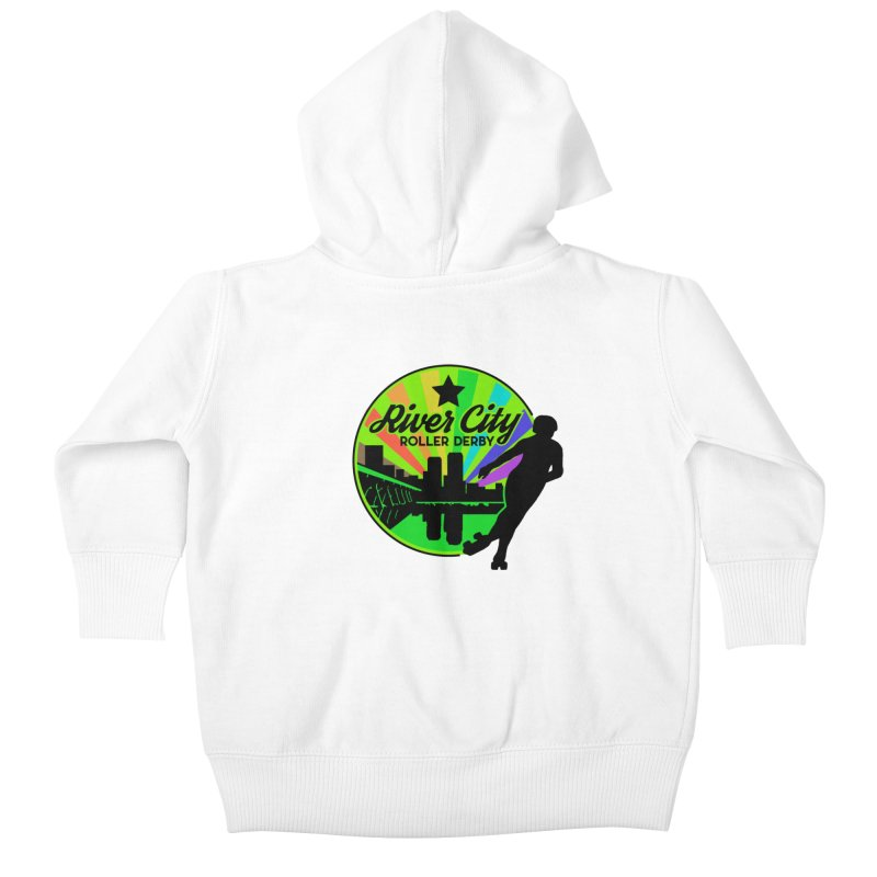 2019 Pride! Kids Baby Zip-Up Hoody by River City Roller Derby's Artist Shop