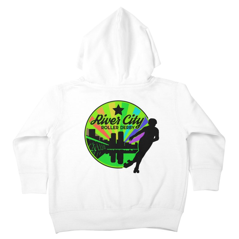 2019 Pride! Kids Toddler Zip-Up Hoody by River City Roller Derby's Artist Shop