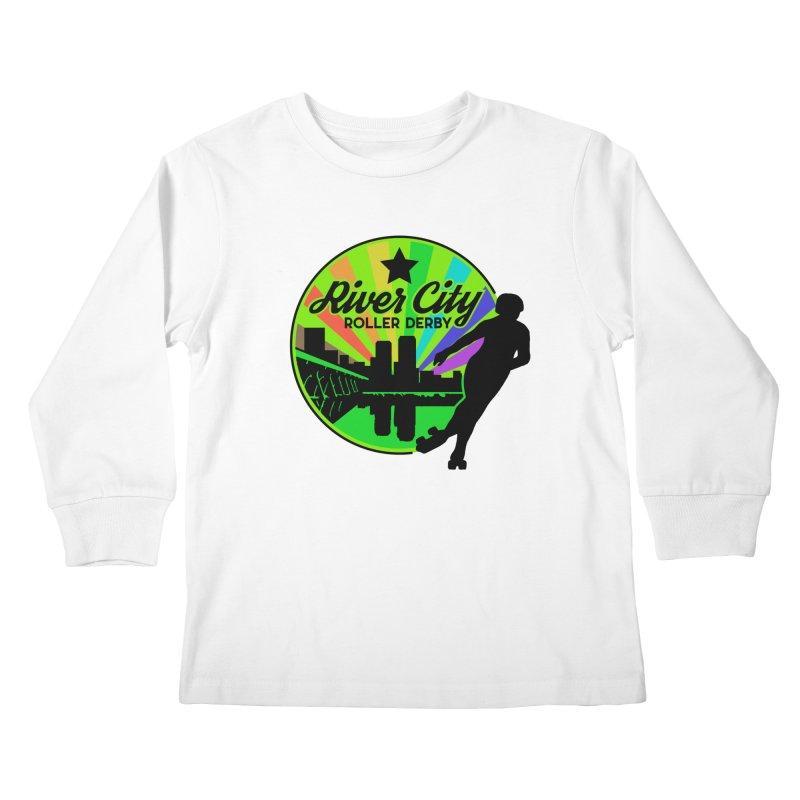 2019 Pride! Kids Longsleeve T-Shirt by River City Roller Derby's Artist Shop