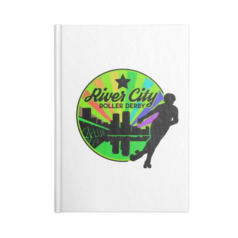 2019 Pride! Accessories Lined Journal Notebook by River City Roller Derby's Artist Shop