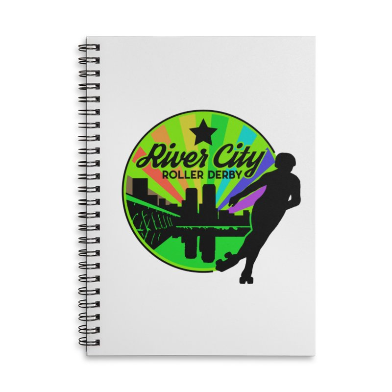 2019 Pride! Accessories Lined Spiral Notebook by River City Roller Derby's Artist Shop