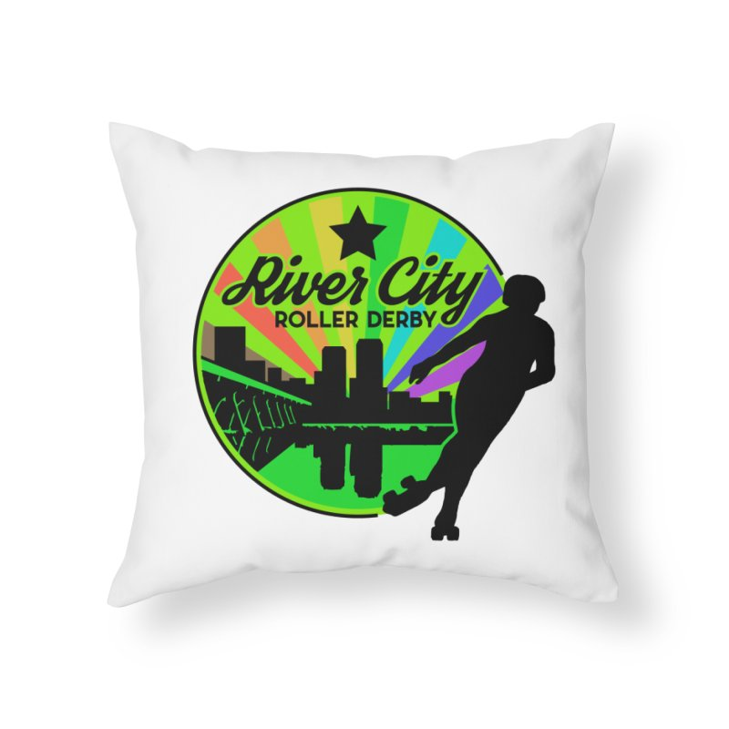 2019 Pride! Home Throw Pillow by River City Roller Derby's Artist Shop