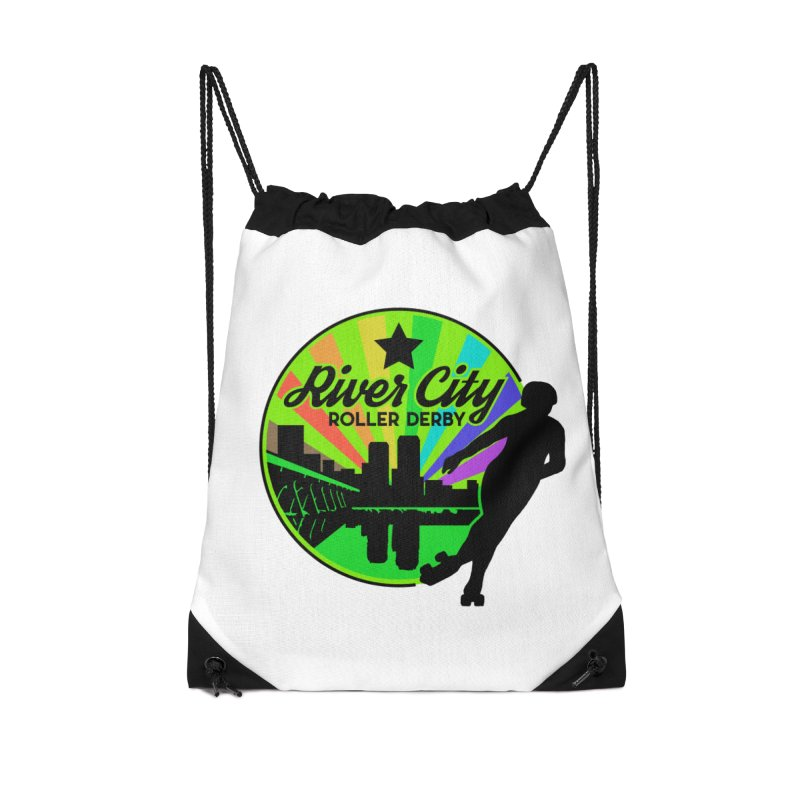 2019 Pride! Accessories Drawstring Bag Bag by River City Roller Derby's Artist Shop