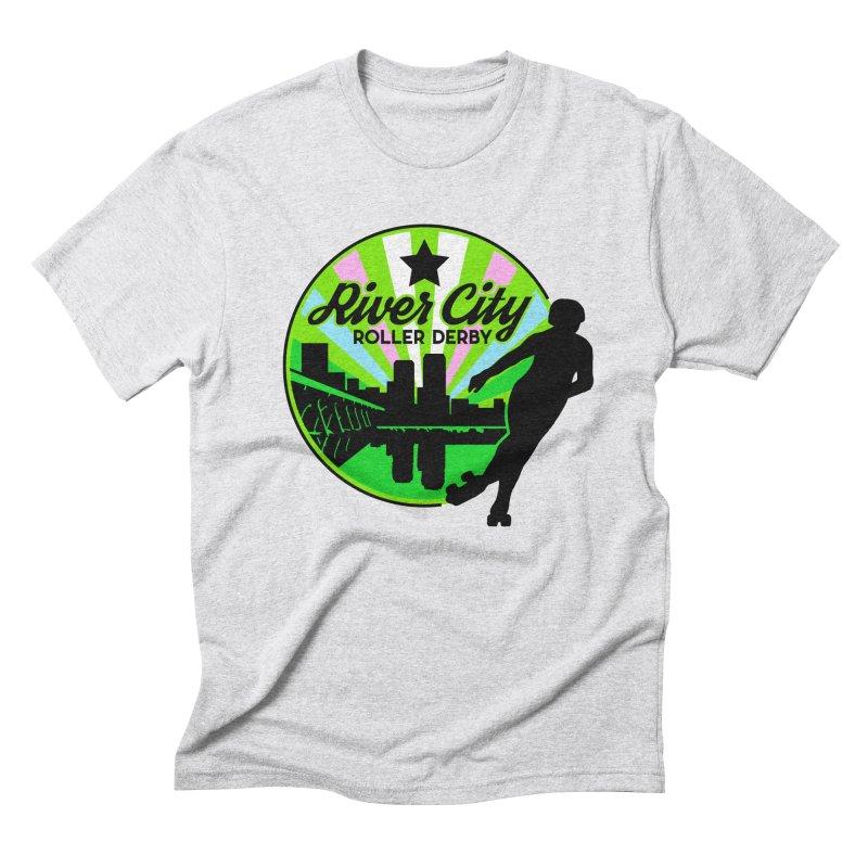 2019 Trans Pride! Men's T-Shirt by River City Roller Derby's Artist Shop