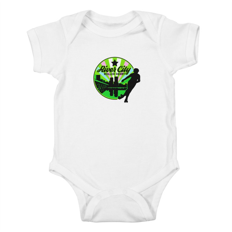 2019 Trans Pride! Kids Baby Bodysuit by River City Roller Derby's Artist Shop