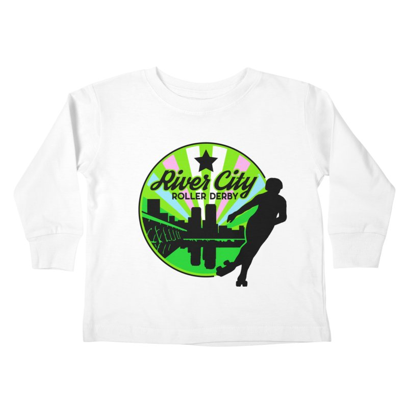 2019 Trans Pride! Kids Toddler Longsleeve T-Shirt by River City Roller Derby's Artist Shop
