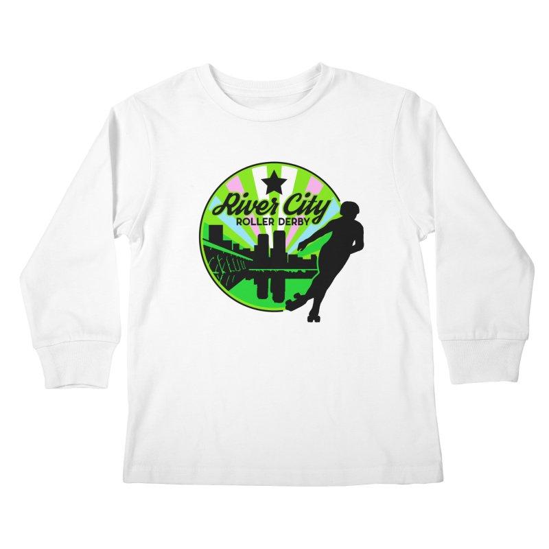 2019 Trans Pride! Kids Longsleeve T-Shirt by River City Roller Derby's Artist Shop