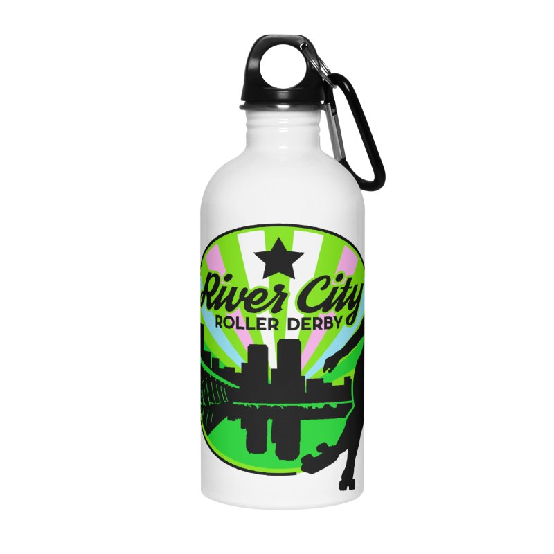 2019 Trans Pride! Accessories Water Bottle by River City Roller Derby's Artist Shop
