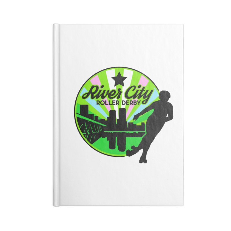 2019 Trans Pride! Accessories Lined Journal Notebook by River City Roller Derby's Artist Shop