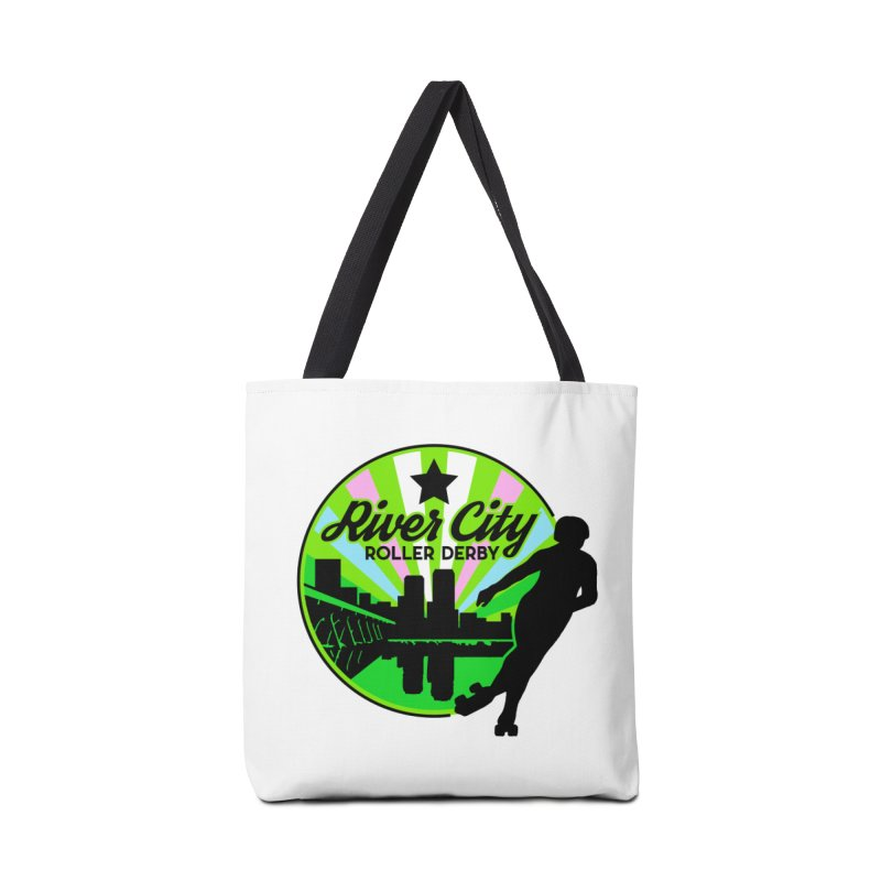 2019 Trans Pride! Accessories Tote Bag Bag by River City Roller Derby's Artist Shop