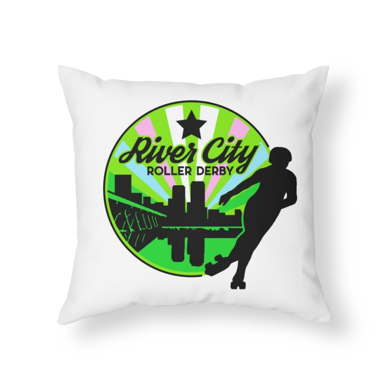 2019 Trans Pride! Home Throw Pillow by River City Roller Derby's Artist Shop