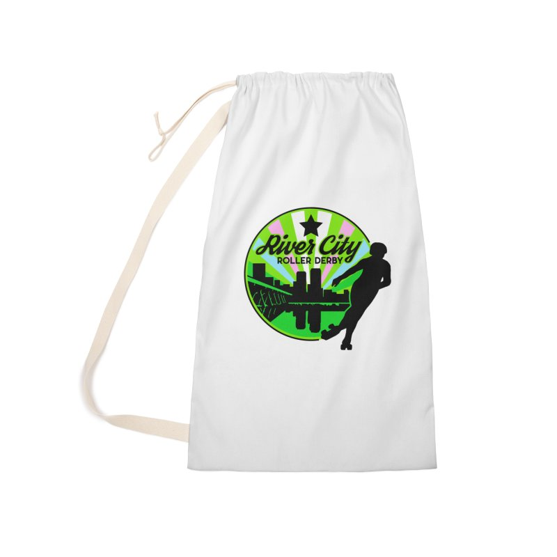2019 Trans Pride! Accessories Laundry Bag Bag by River City Roller Derby's Artist Shop
