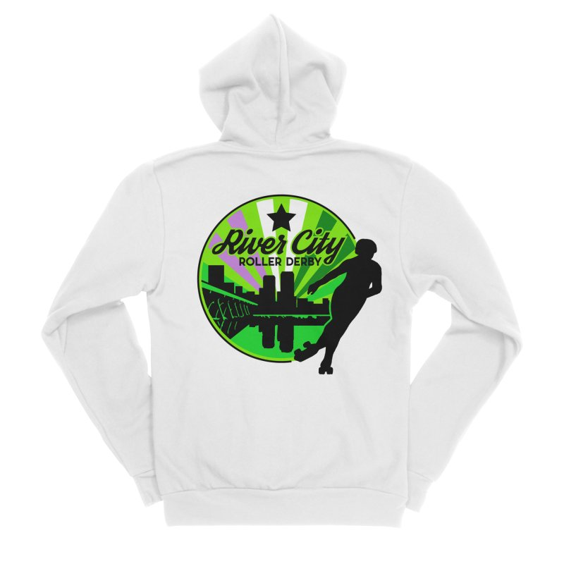 2019 Genderqueer Pride! Women's Sponge Fleece Zip-Up Hoody by River City Roller Derby's Artist Shop