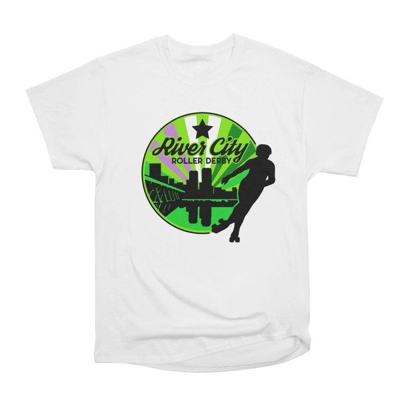 2019 Genderqueer Pride! Men's Heavyweight T-Shirt by River City Roller Derby's Artist Shop
