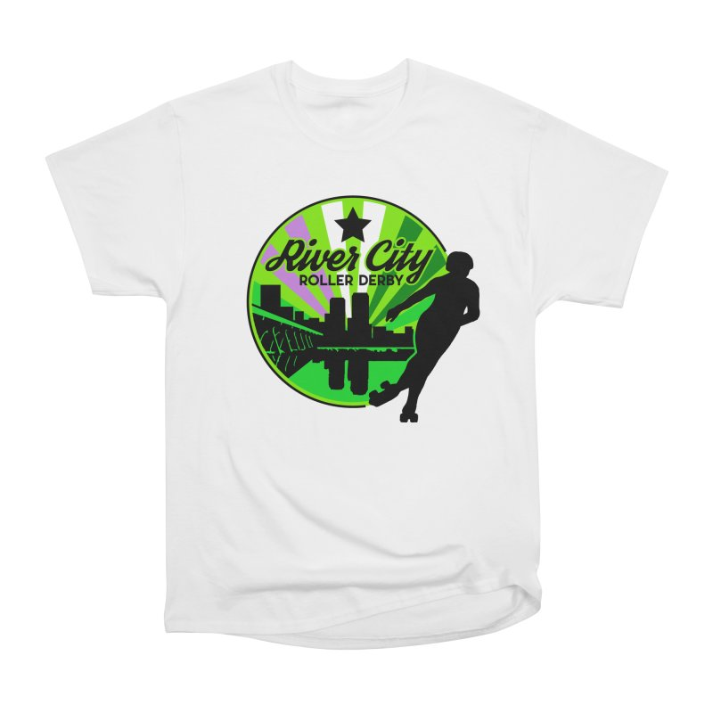 2019 Genderqueer Pride! Women's Heavyweight Unisex T-Shirt by River City Roller Derby's Artist Shop
