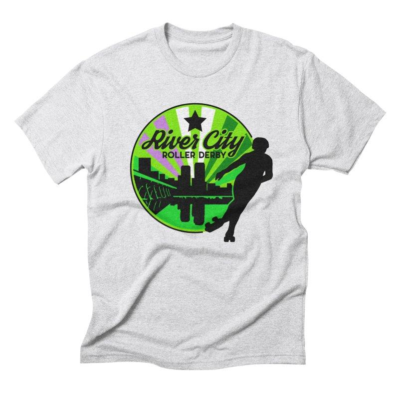 2019 Genderqueer Pride! Men's Triblend T-Shirt by River City Roller Derby's Artist Shop