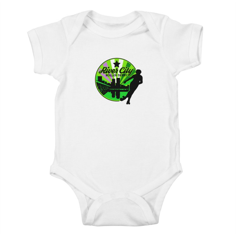 2019 Genderqueer Pride! Kids Baby Bodysuit by River City Roller Derby's Artist Shop