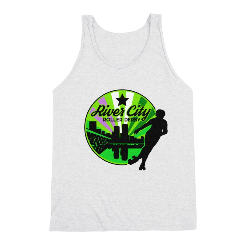 2019 Genderqueer Pride! Men's Triblend Tank by River City Roller Derby's Artist Shop