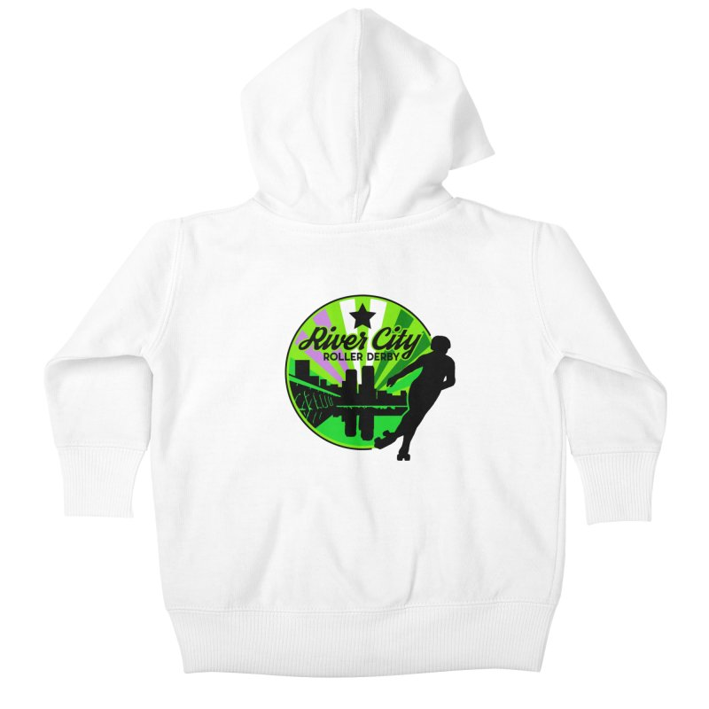 2019 Genderqueer Pride! Kids Baby Zip-Up Hoody by River City Roller Derby's Artist Shop