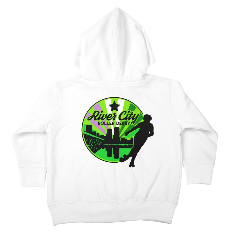 2019 Genderqueer Pride! Kids Toddler Zip-Up Hoody by River City Roller Derby's Artist Shop