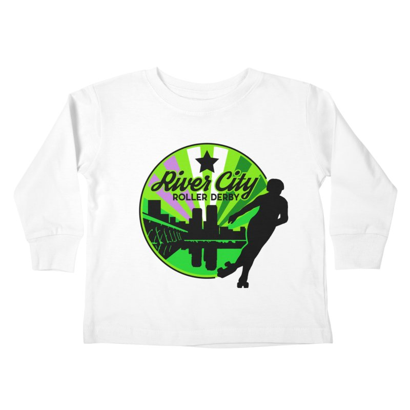 2019 Genderqueer Pride! Kids Toddler Longsleeve T-Shirt by River City Roller Derby's Artist Shop