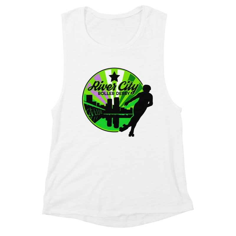 2019 Genderqueer Pride! Women's Muscle Tank by River City Roller Derby's Artist Shop