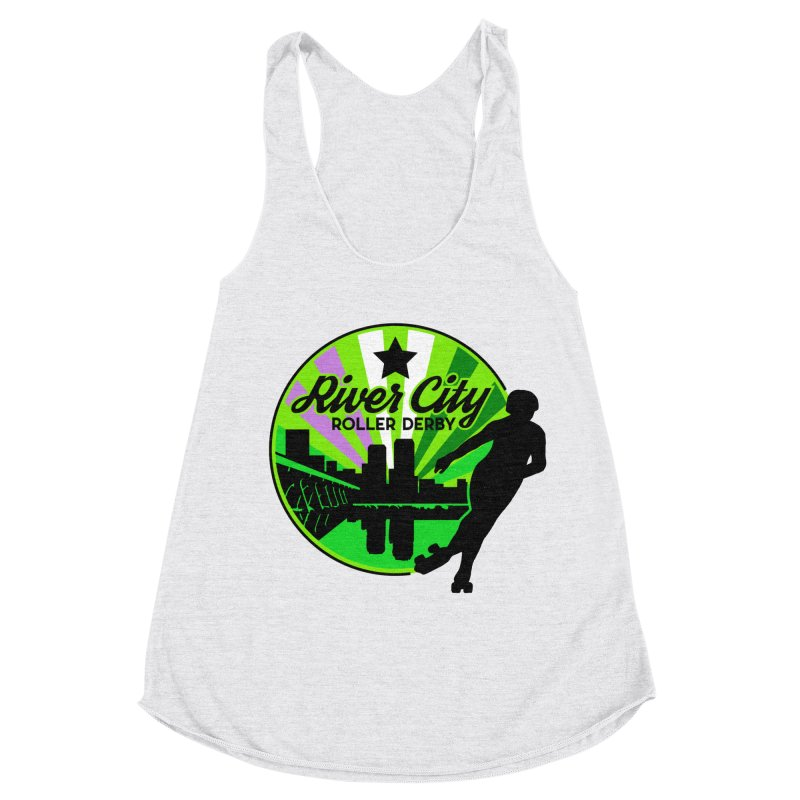 2019 Genderqueer Pride! Women's Racerback Triblend Tank by River City Roller Derby's Artist Shop
