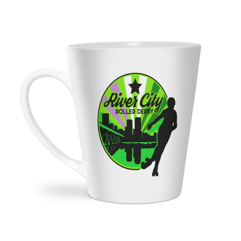 2019 Genderqueer Pride! Accessories Latte Mug by River City Roller Derby's Artist Shop