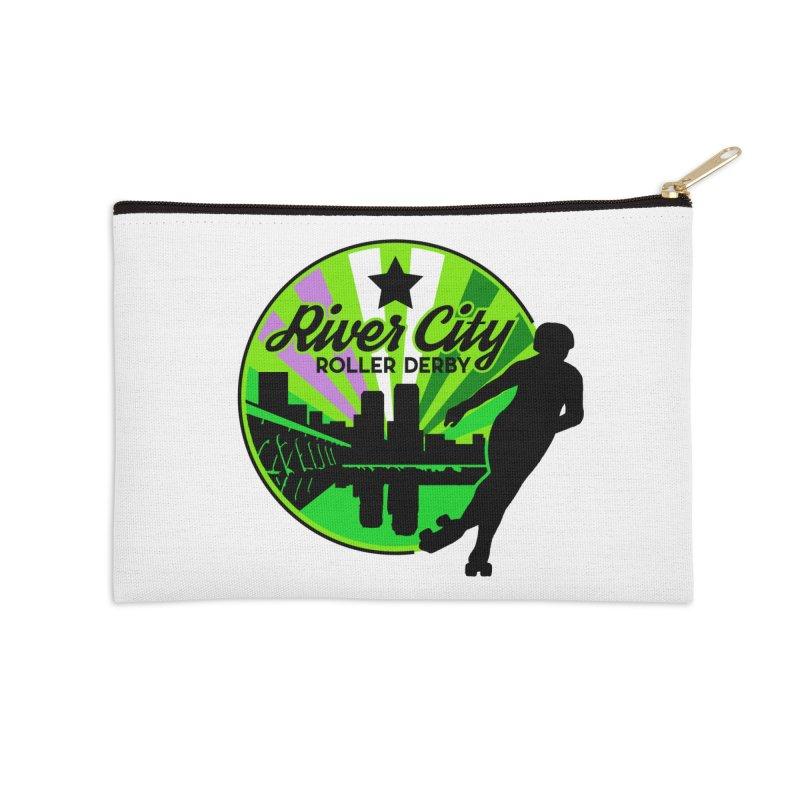 2019 Genderqueer Pride! Accessories Zip Pouch by River City Roller Derby's Artist Shop