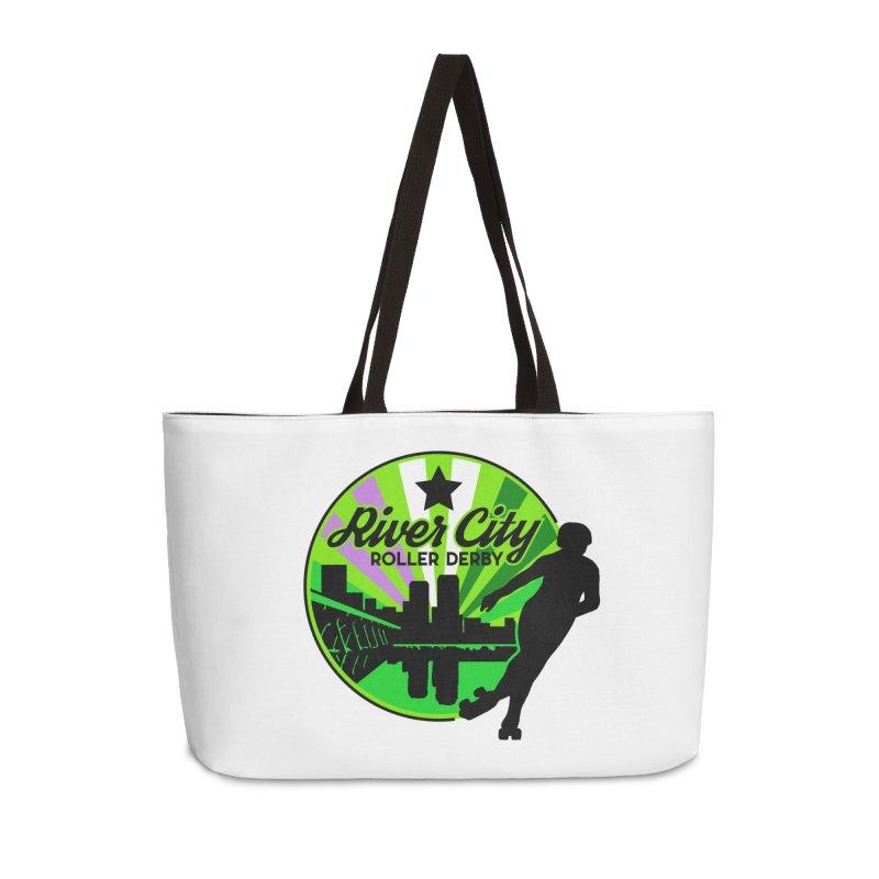 2019 Genderqueer Pride! Accessories Weekender Bag Bag by River City Roller Derby's Artist Shop