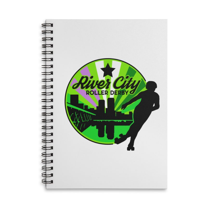 2019 Genderqueer Pride! Accessories Lined Spiral Notebook by River City Roller Derby's Artist Shop