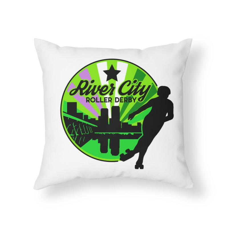 2019 Genderqueer Pride! Home Throw Pillow by River City Roller Derby's Artist Shop
