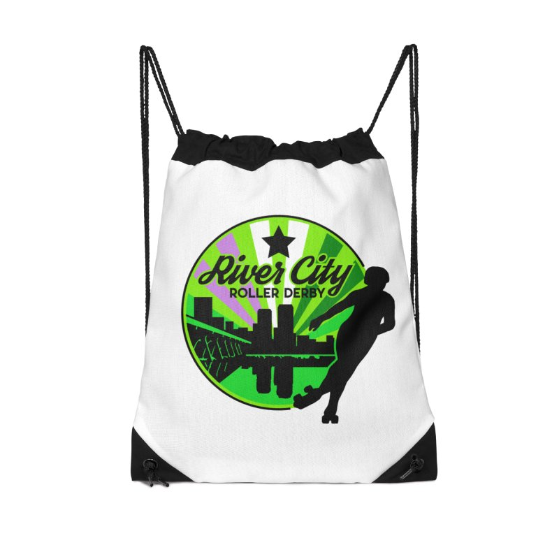2019 Genderqueer Pride! Accessories Drawstring Bag Bag by River City Roller Derby's Artist Shop