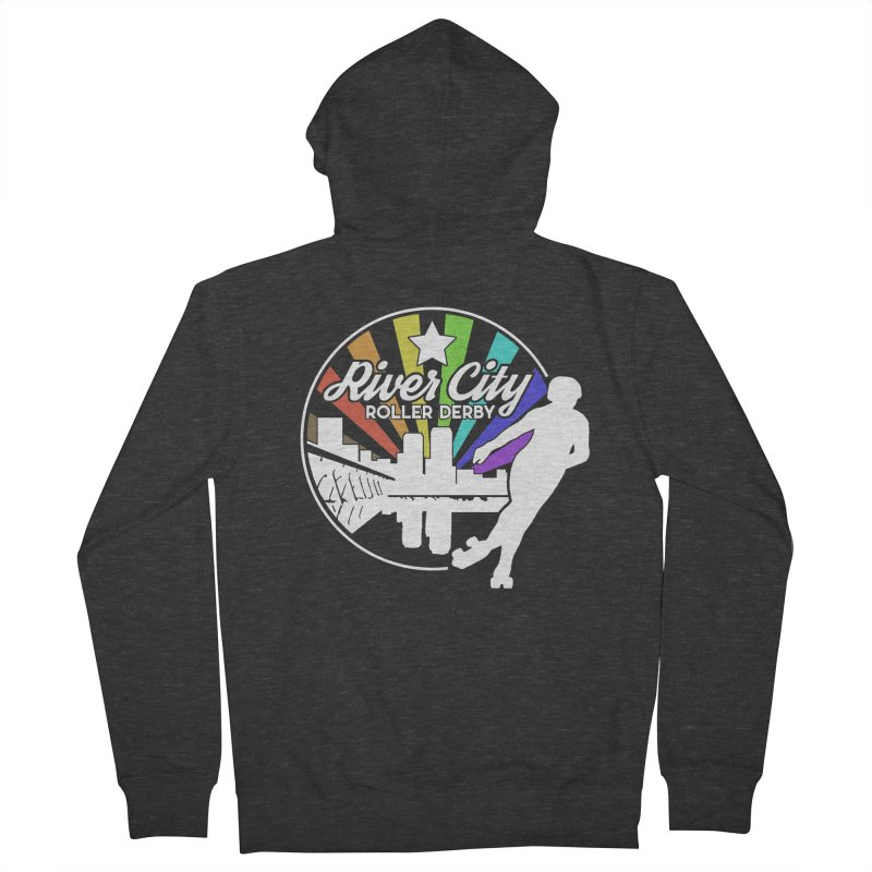 2019 Pride (alt) Women's French Terry Zip-Up Hoody by River City Roller Derby's Artist Shop
