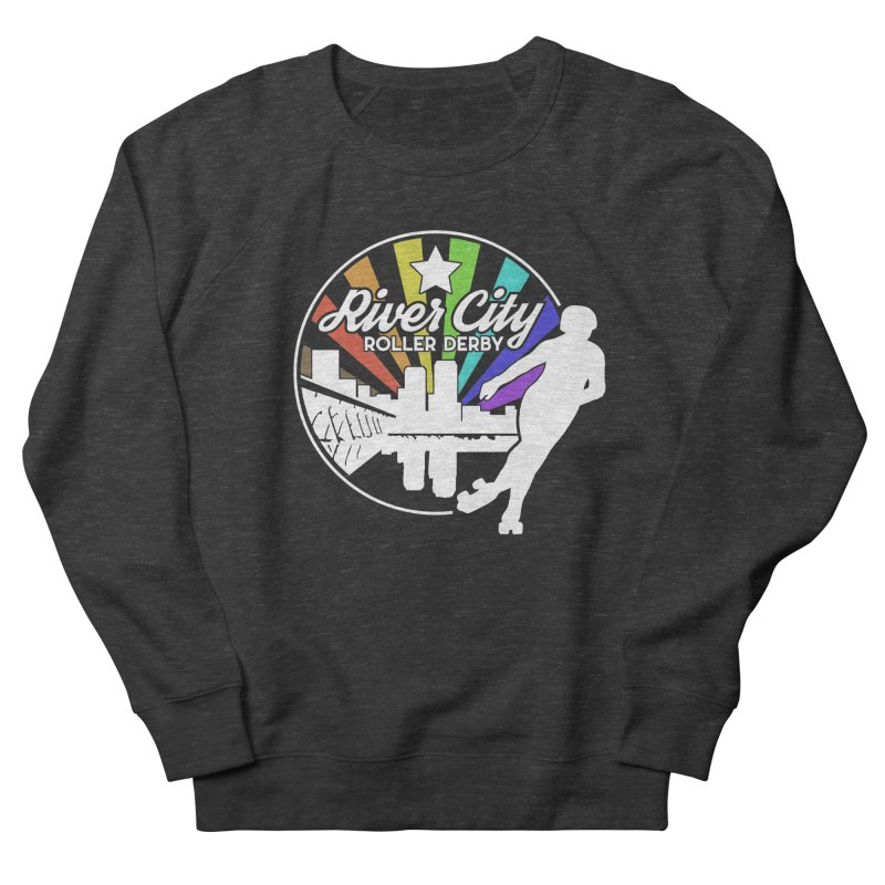 2019 Pride (alt) Men's French Terry Sweatshirt by River City Roller Derby's Artist Shop