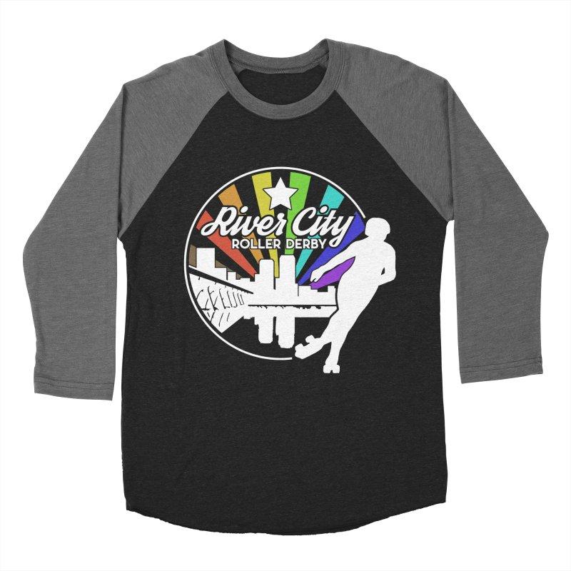 2019 Pride (alt) Men's Baseball Triblend Longsleeve T-Shirt by River City Roller Derby's Artist Shop