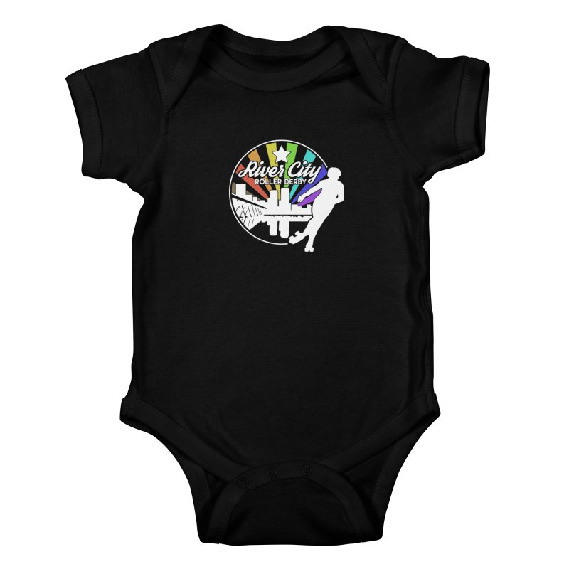 2019 Pride (alt) Kids Baby Bodysuit by River City Roller Derby's Artist Shop