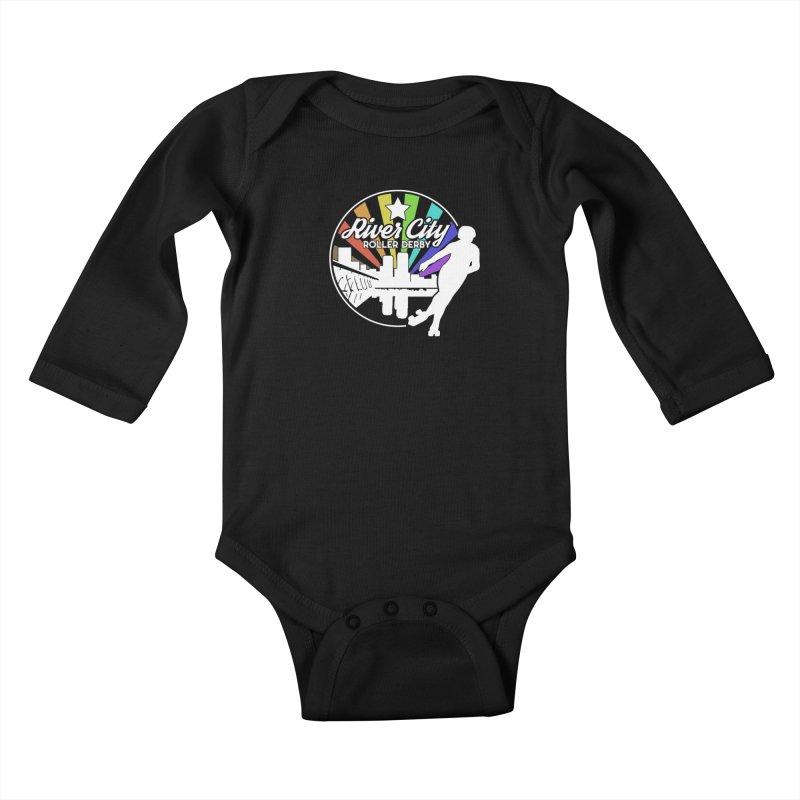 2019 Pride (alt) Kids Baby Longsleeve Bodysuit by River City Roller Derby's Artist Shop