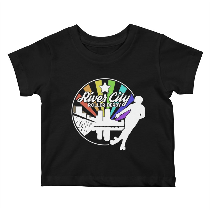 2019 Pride (alt) Kids Baby T-Shirt by River City Roller Derby's Artist Shop