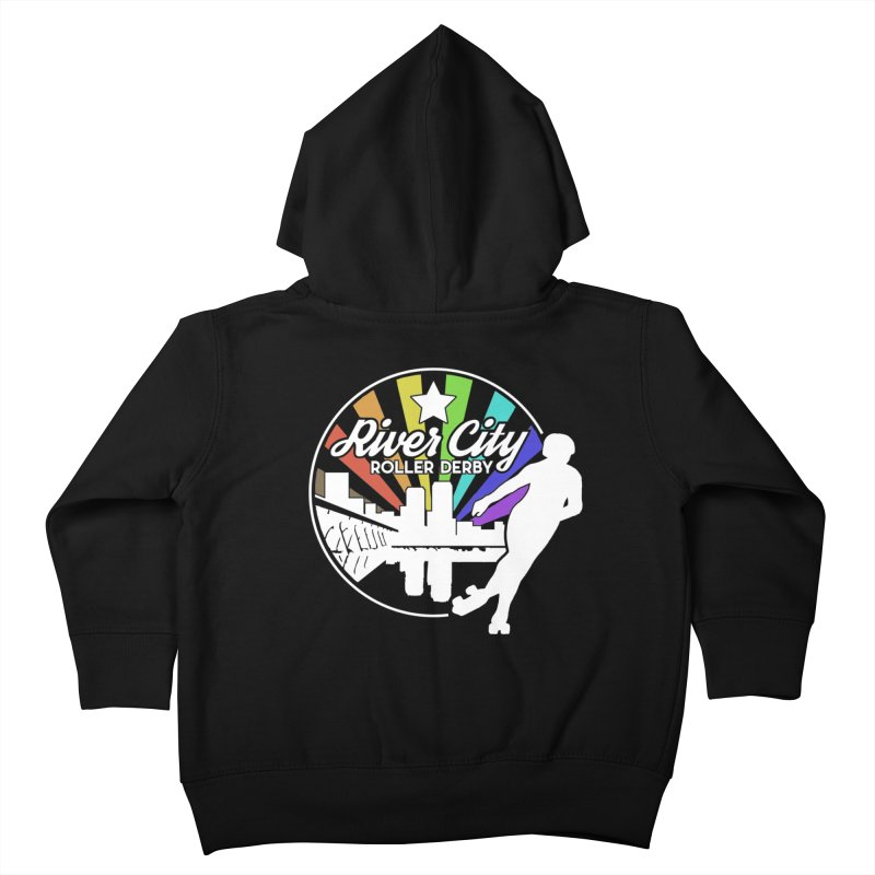 2019 Pride (alt) Kids Toddler Zip-Up Hoody by River City Roller Derby's Artist Shop