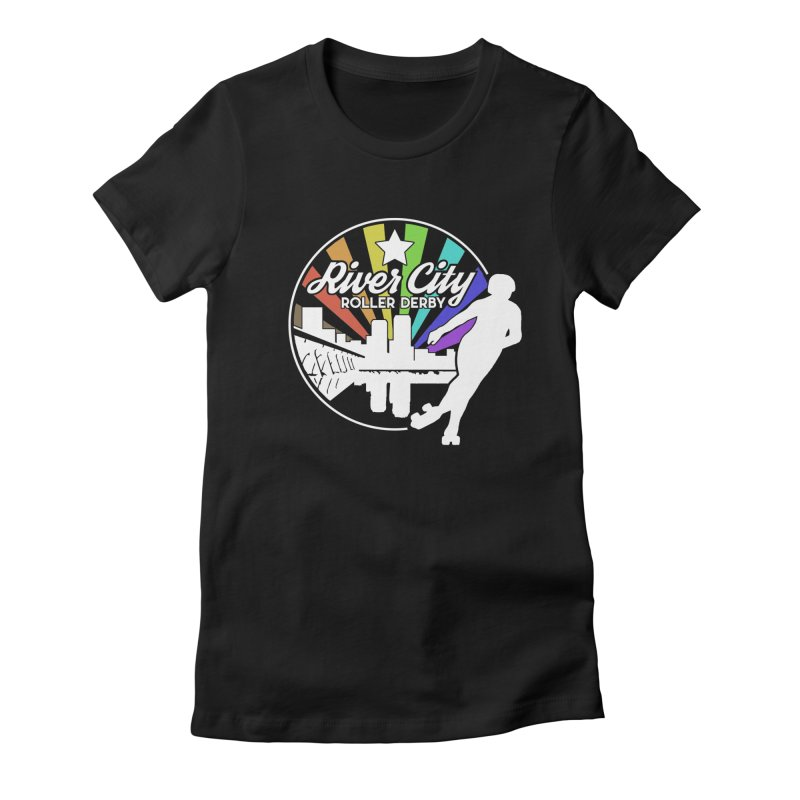 2019 Pride (alt) Women's Fitted T-Shirt by River City Roller Derby's Artist Shop